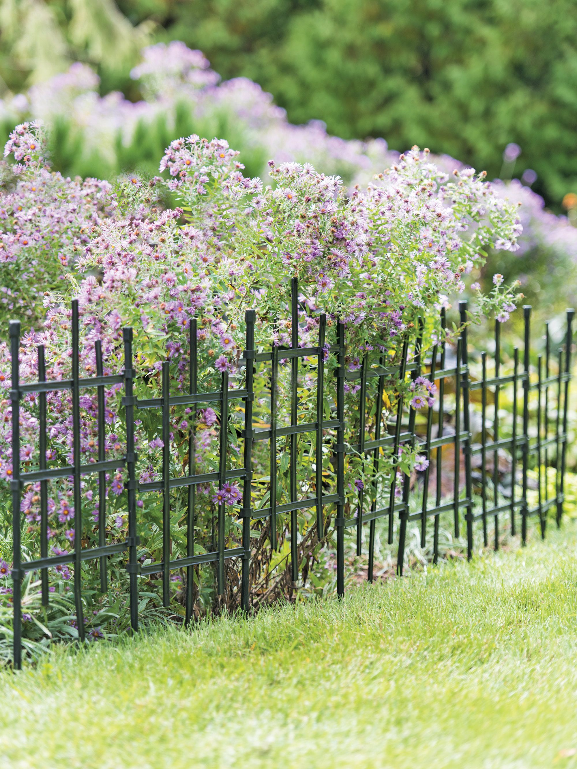 Garden Border Fencing Decorative Edging With Flowers Set Of 3