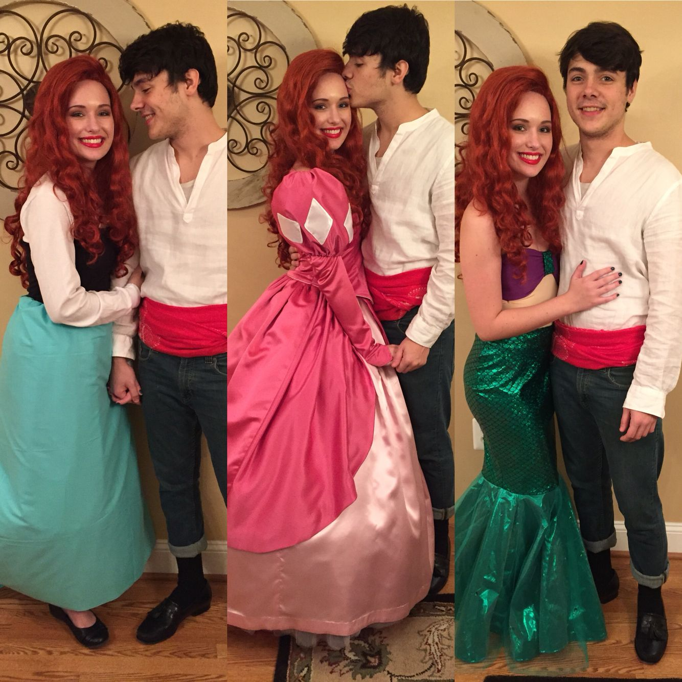 couples Halloween costumes Prince Eric and Princess Ariel the little mermaid Disney  sc 1 st  Pinterest & couples Halloween costumes Prince Eric and Princess Ariel the ...