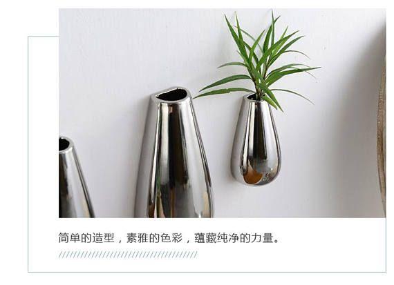 Dieses Angebot ist Silber vergoldet Wand Keramik Vasen, kann es sein