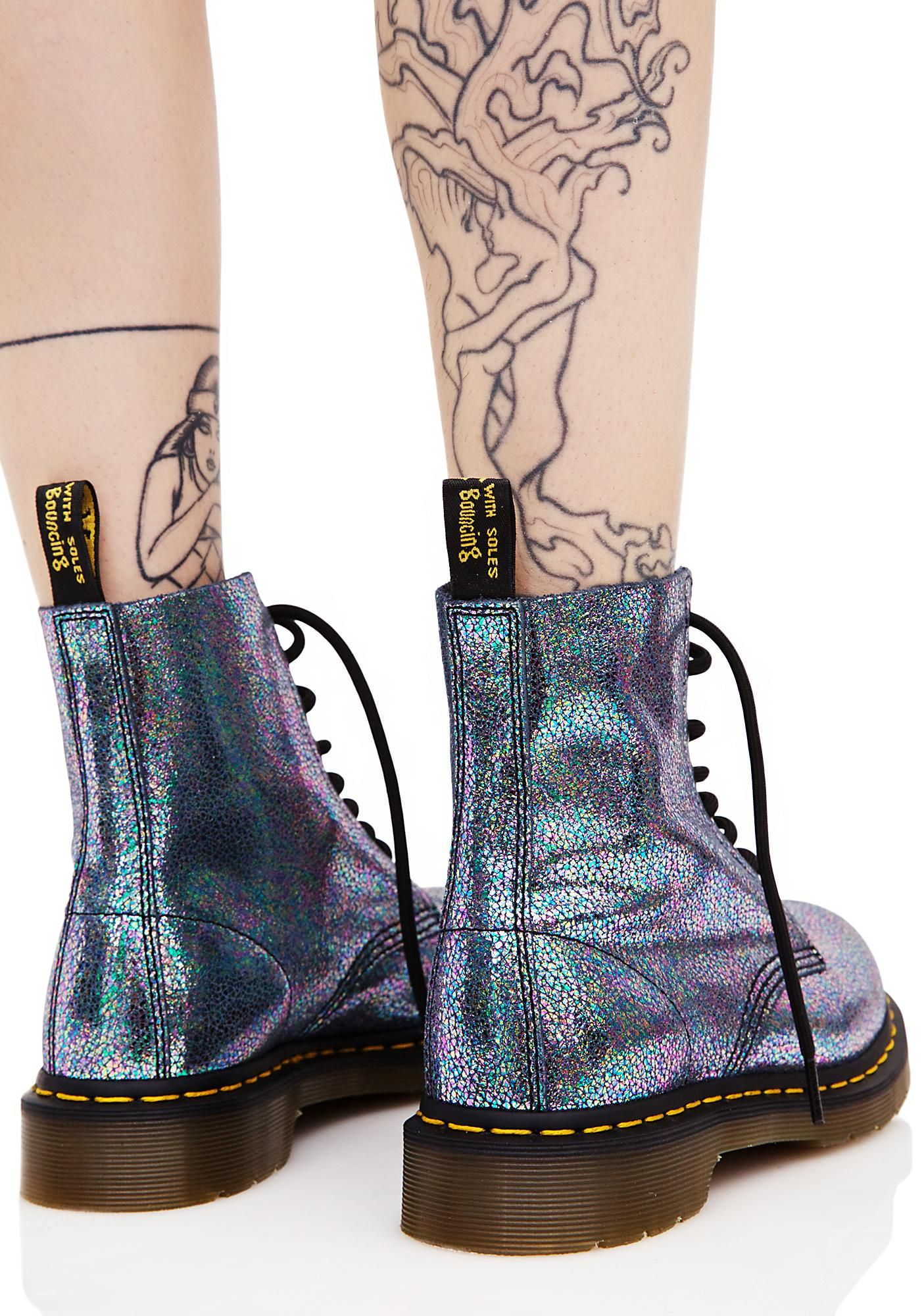 af1457f27 Sparkle Pascal 8 Eye Boots | My Style | Boots, Sparkle outfit, Dr ...