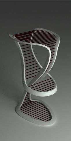 Ultra Modern Bar Stool - Looks like it would be in Cloud Atlas.
