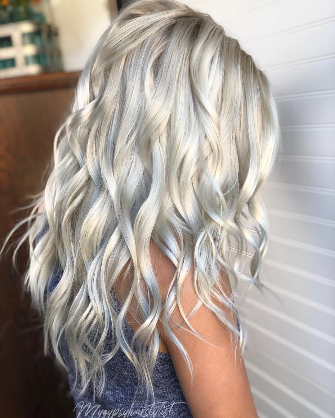 platinum hair white rooty
