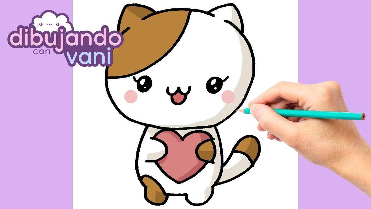 Como Dibujar Un Gato Kawaii Dibujos Imagenes Faciles Anime Para Colore Como Dibujar Un Gato Dibujos Kawaii Gatos Kawaii