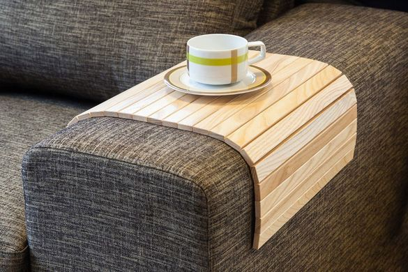 Flexible Wooden Sofa Armrest Tray Table The Green Head Coffee Table Wood Wooden Tv Trays Natural Sofas