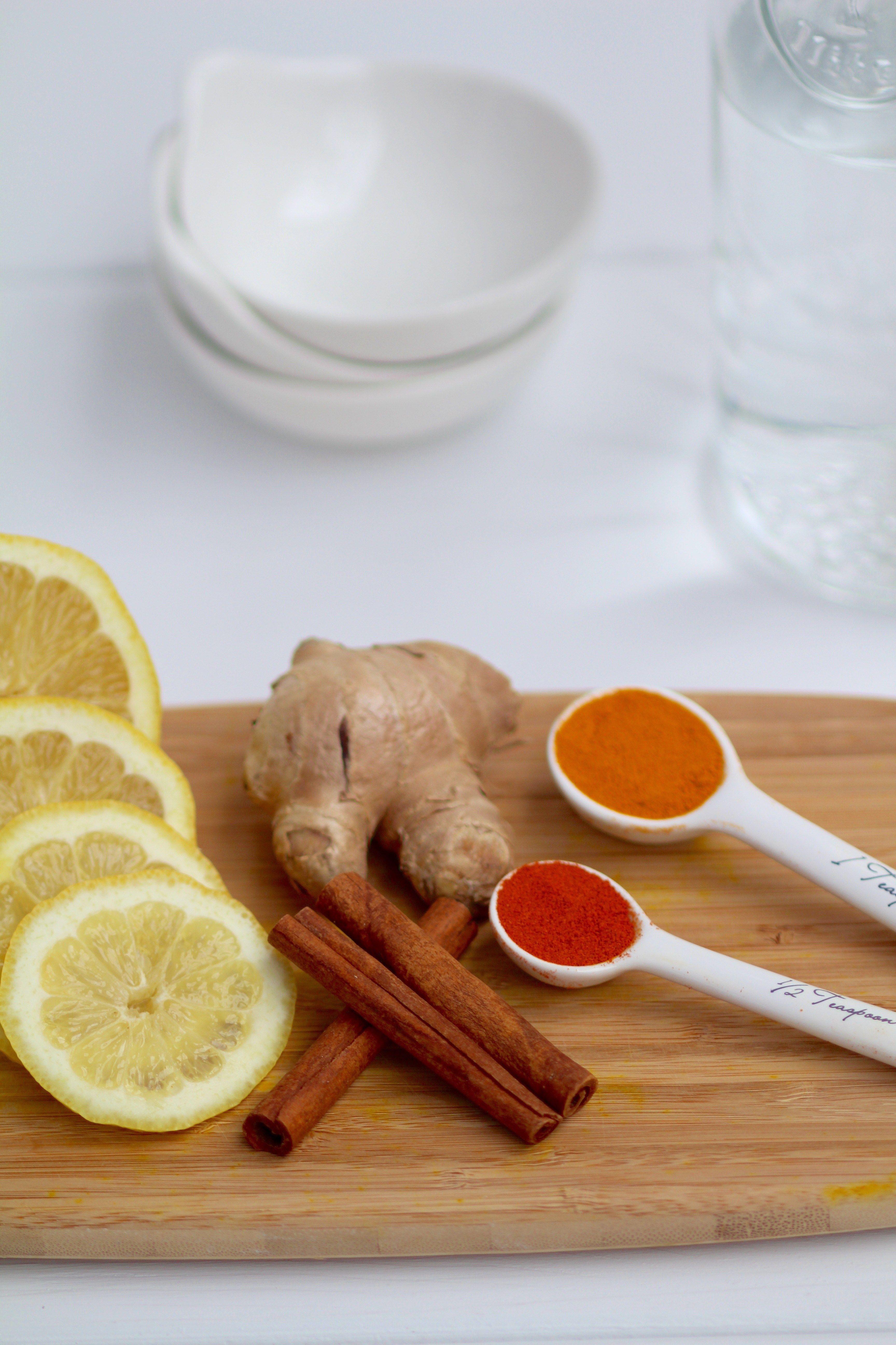 Daily detox lemon, ginger & turmeric tea | Recipe