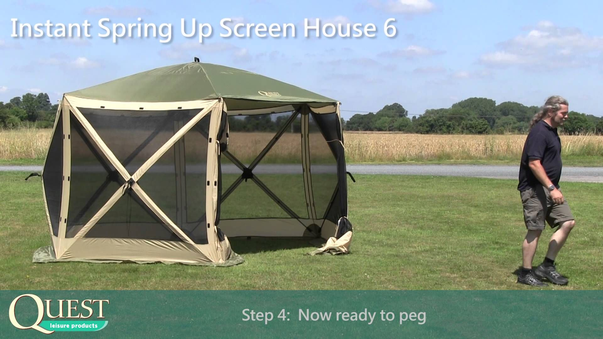 Notcutts Quest Instant Springup Gazebo Youtube Screen House