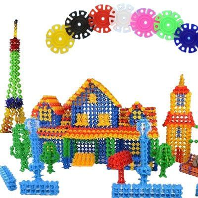 Lake Construction Discsstem to Plastic Disc SetSnow Fys for 3 Year Old up bodolo 750 Piece Building Blocks Toys for Toddlers /& Kids