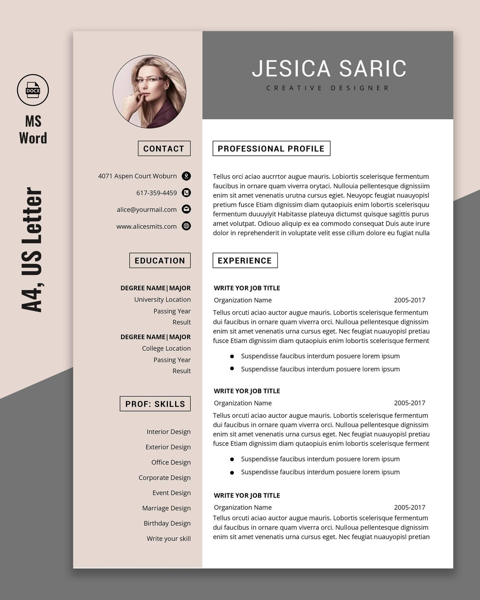 Professional Resume Template Instant Download 3 Page Resume Etsy In 2020 Resume Template Professional Resume Template Resume Template Word