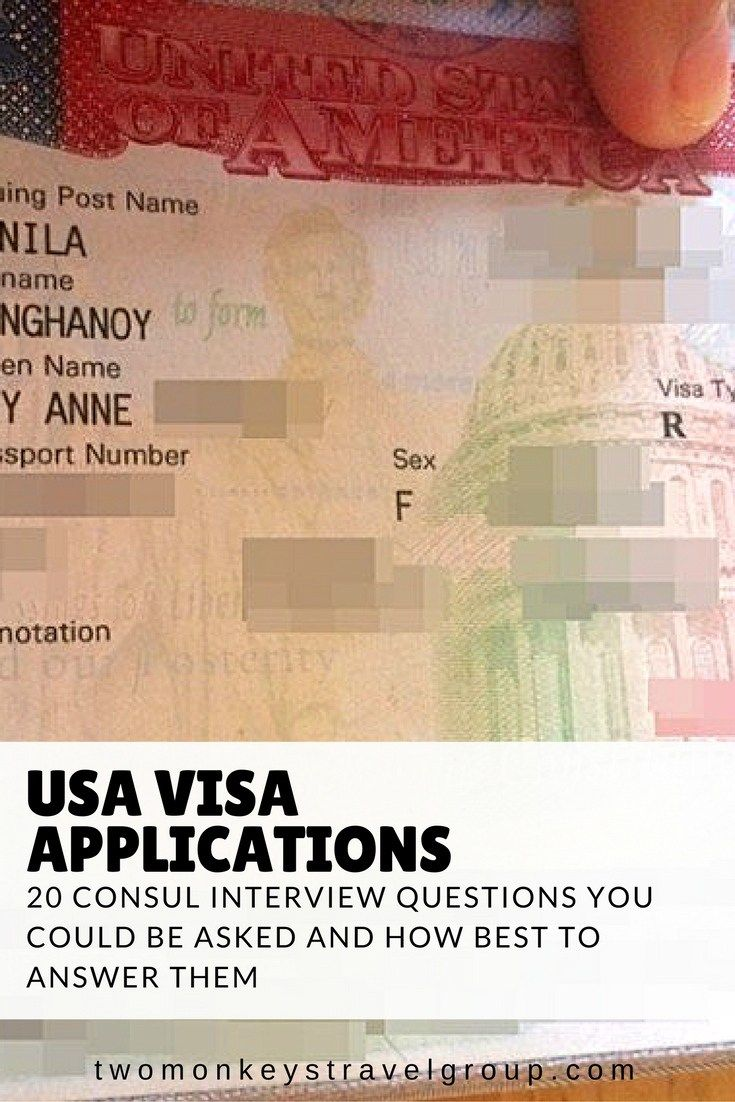 20 Basic Question For Usa B1 B2 Tourist Visa Consul Interview