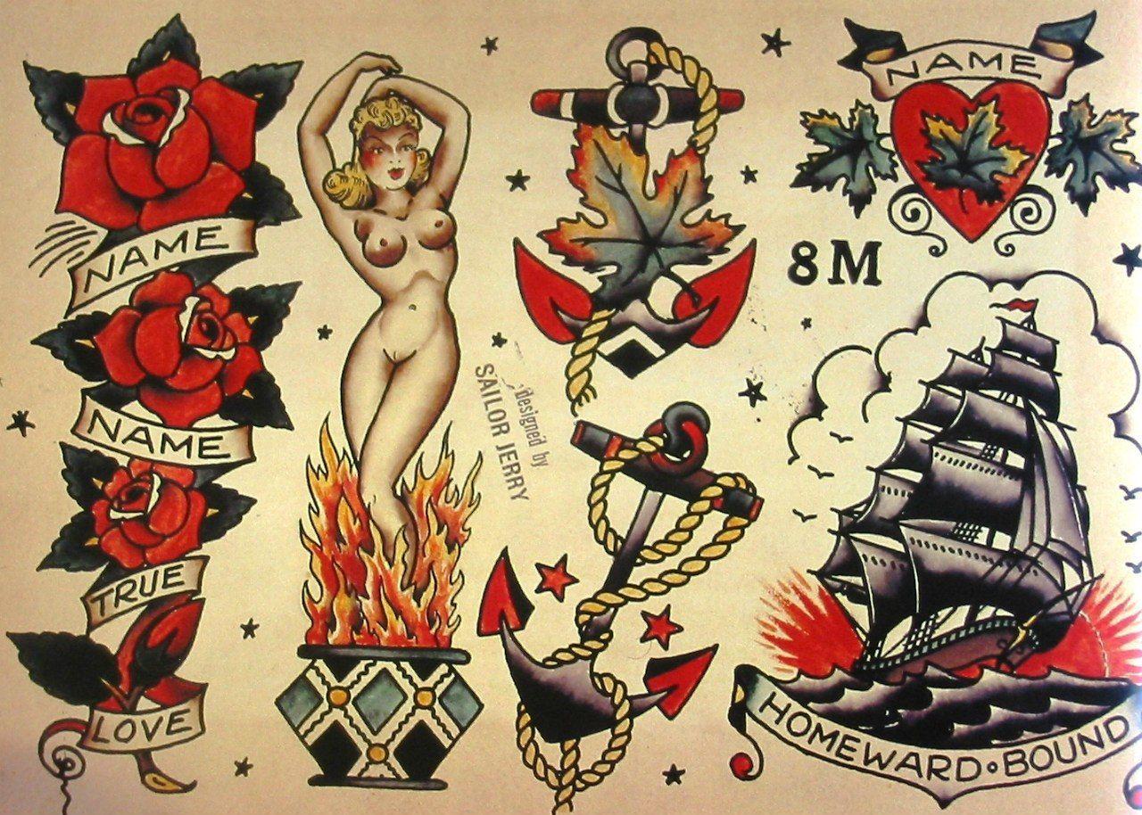 Sailor Jerry Tattoo Flash Volume 1 – 53 photos | VK | American ...