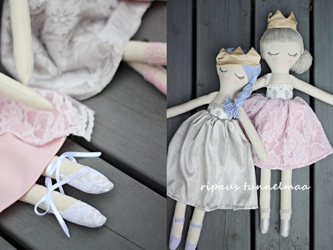 ripaus tunnelmaa: prinsessanukkeja