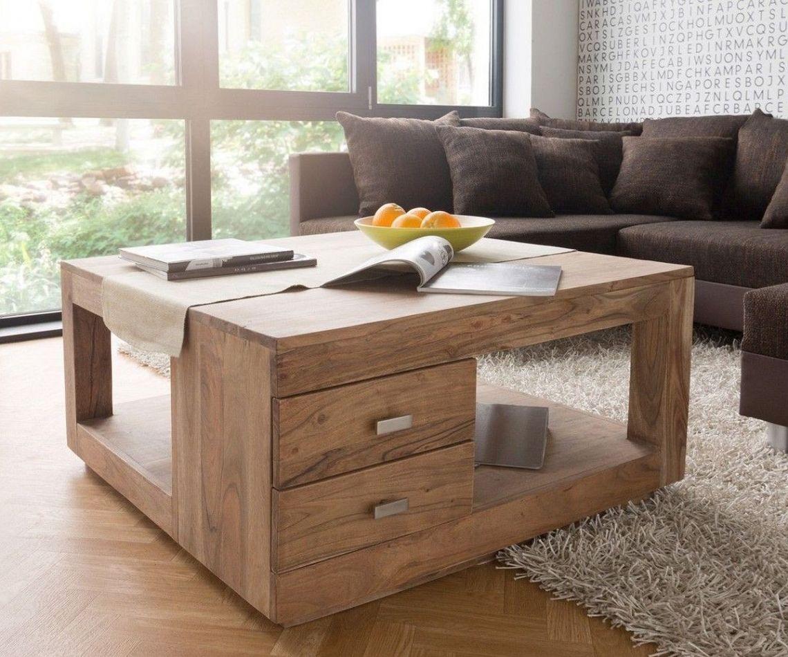Wunderbar Wohnzimmertisch Holz Galerie Von Schön 90x90