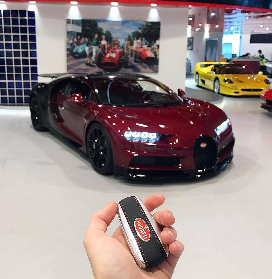 Would you take the Bugatti Chiron keys Tag your friend who will take a ride