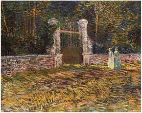 Vincent van Gogh Entrance of Voyer d'Argenson Park at Asnières Painting