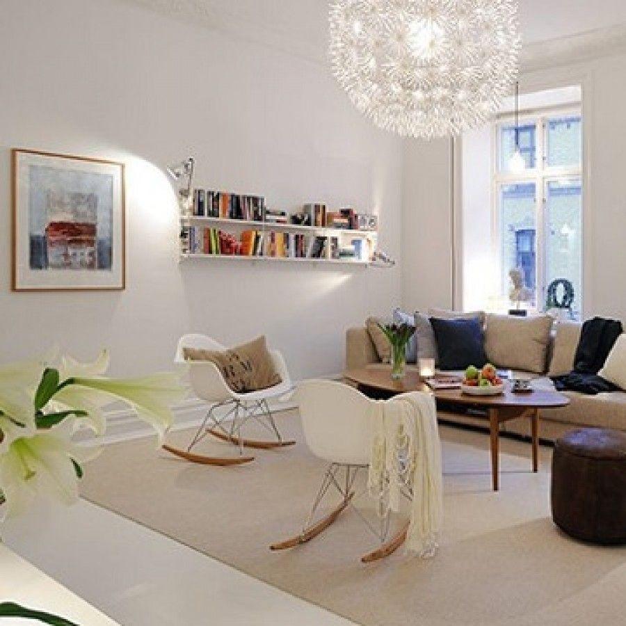 Charles Ray Eames Style RAR Rocking Chair - White   NORDIC ...