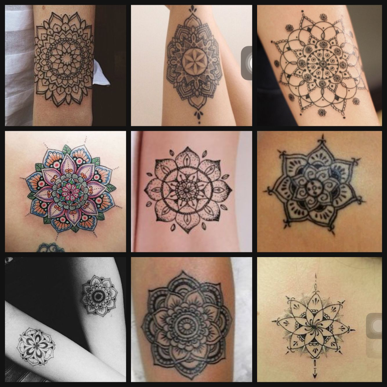 mandala unterarm innen rechts tatuajes pinterest. Black Bedroom Furniture Sets. Home Design Ideas