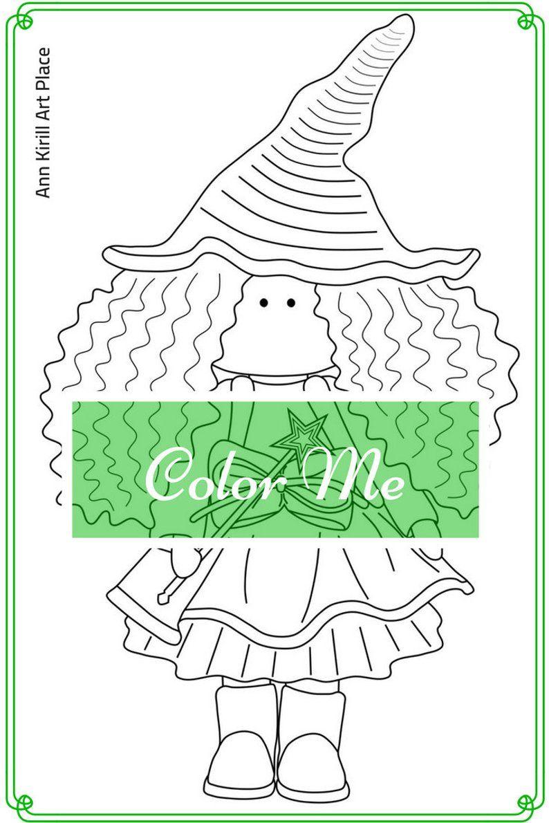Color Me Page Girl Digital Stamp Dolls Digital Stamp Kids