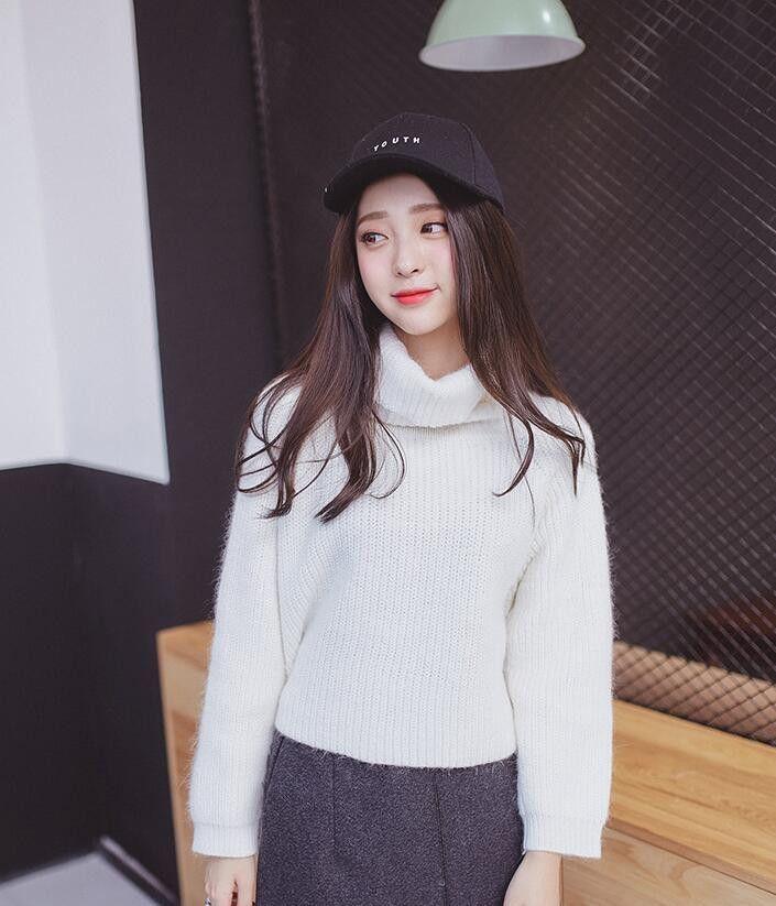 Korean style - Hedging tide half turtleneck sweater  fd5564bb6