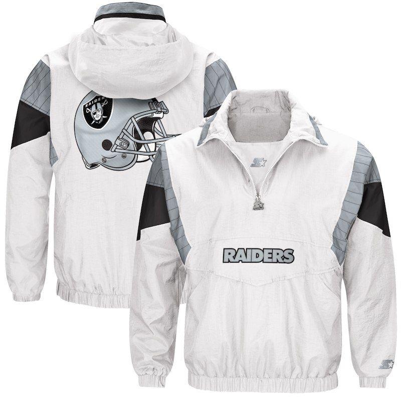 Oakland Raiders Starter Thursday Night Lights Breakaway Jacket – White 1c172dfa9