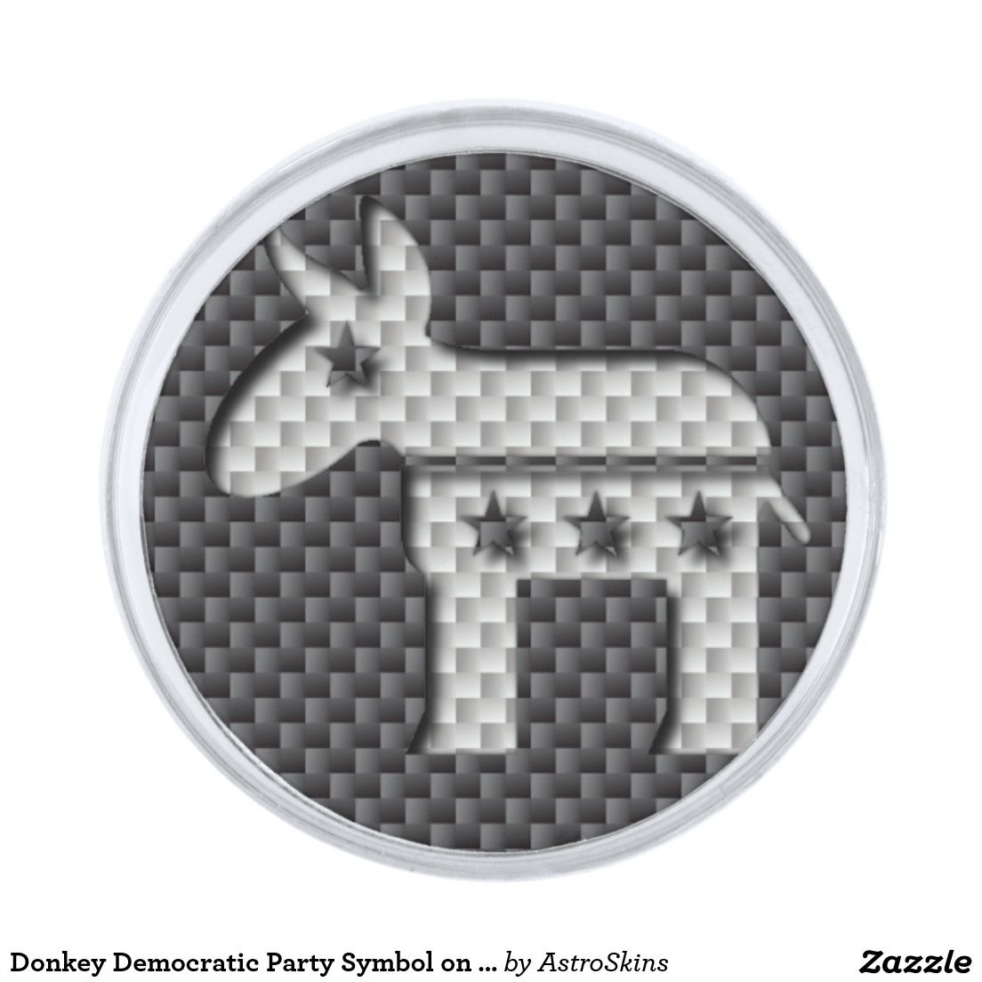 Carbon fiber donkey democratic party symbol silver finish lapel pin carbon fiber donkey democratic party symbol silver finish lapel pin biocorpaavc Image collections
