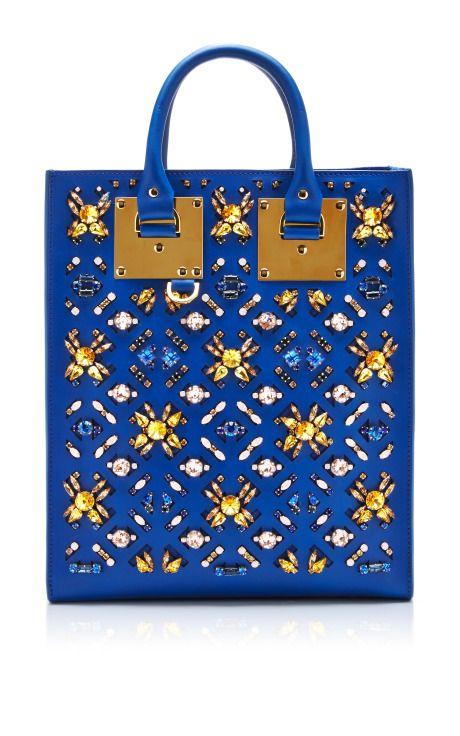 Mini Tote Bag With Embellishment In Klein Blue by Sophie Hulme - Moda Operandi