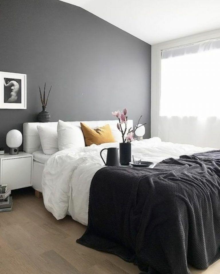 Graue Schlafzimmer Wandfarbe In 100 Beispielen Einrichten Und   Schlafzimmer  Ideen Grau