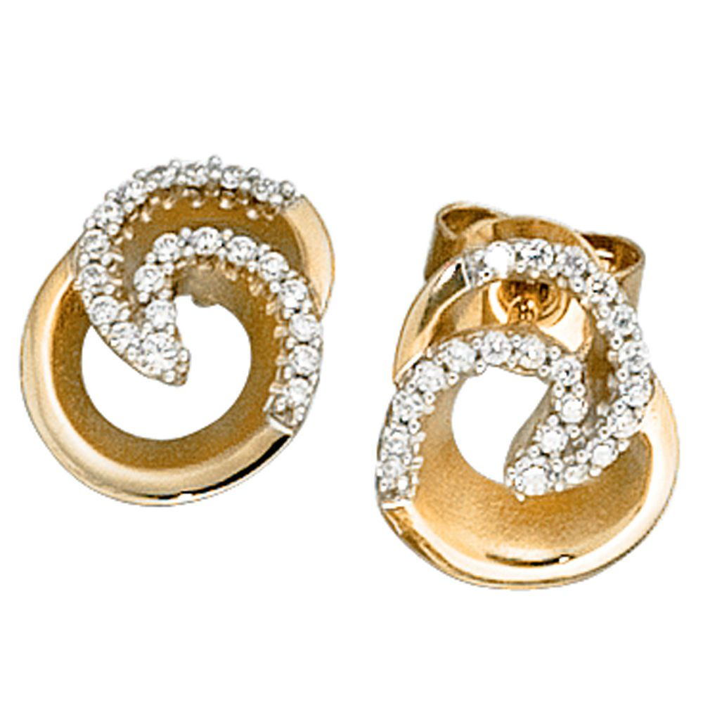 eine große Auswahl an Modellen Professionel Online kaufen NEU Designer Diamanten Ohrstecker 585er 585 echt Gold ...