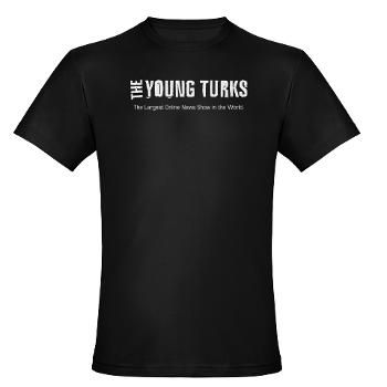 Show the world you're a fan of The Young Turks Show with this comfortable dark t-shirt