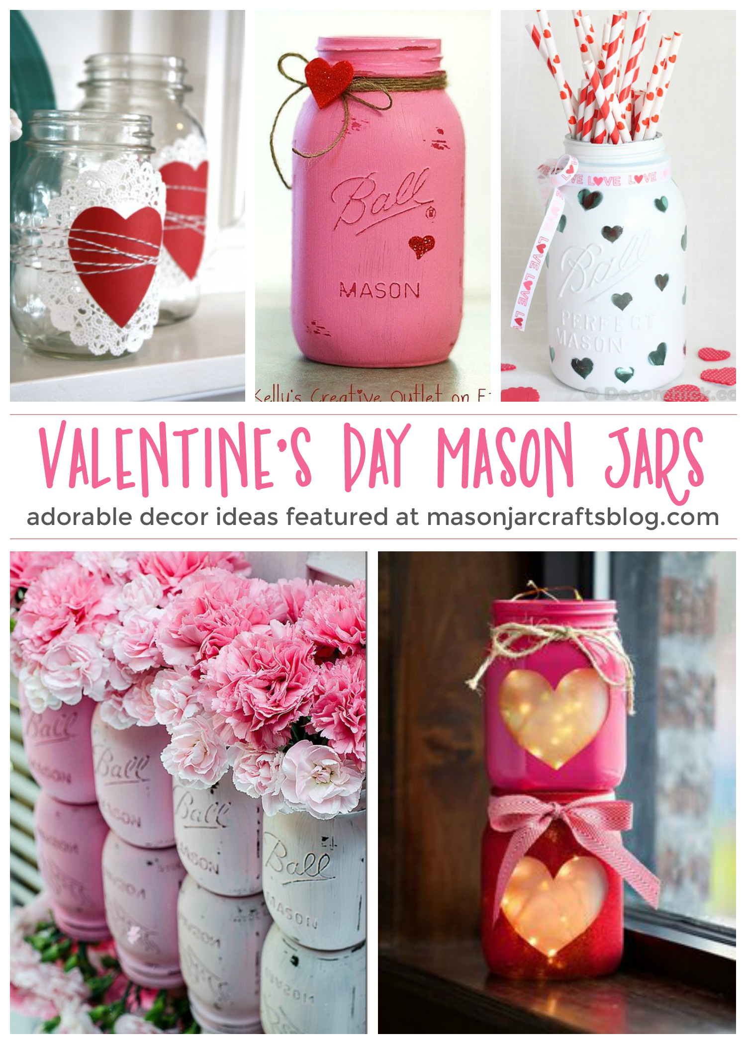 Valentine S Day Mason Jars Mason Jar Crafts Valentine Mason Jar Diy Valentines Crafts Jar Crafts
