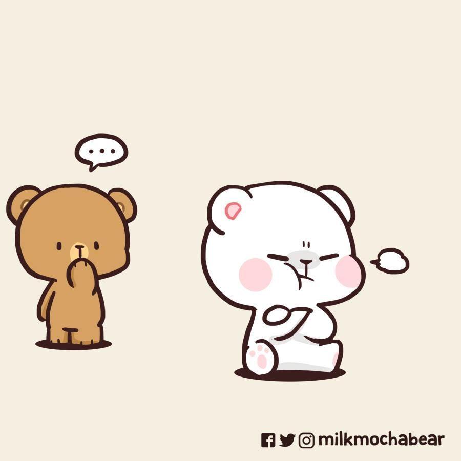 Milk Mocha On With Images Cute Bear Drawings Cute Cartoon