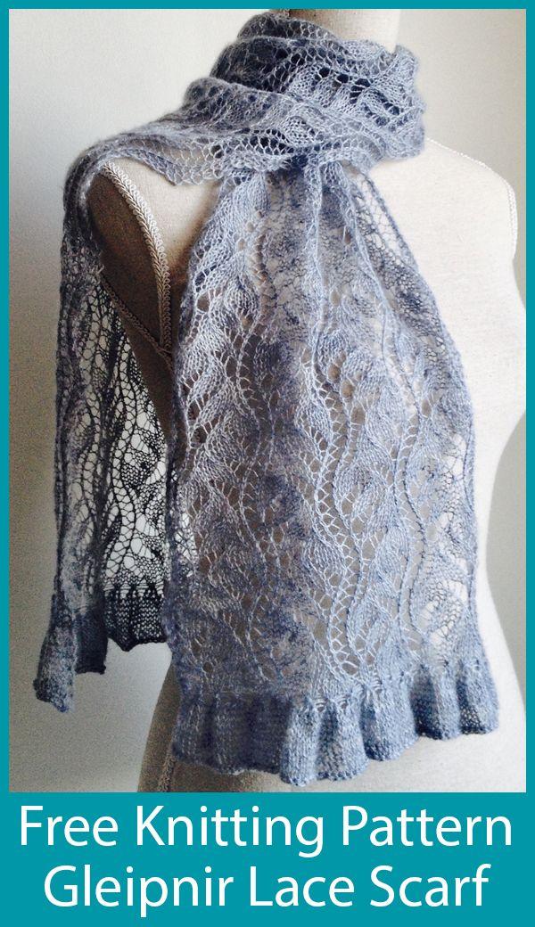 Free Knitting Pattern for Gleipnir Lace Scarf