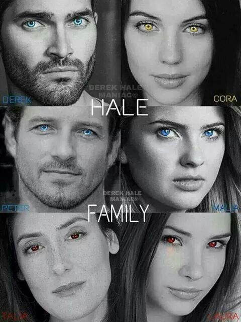 Teen Wolf - Hale family Es irónico que esta familia allá tenido tantos algas contando a derek y peter.