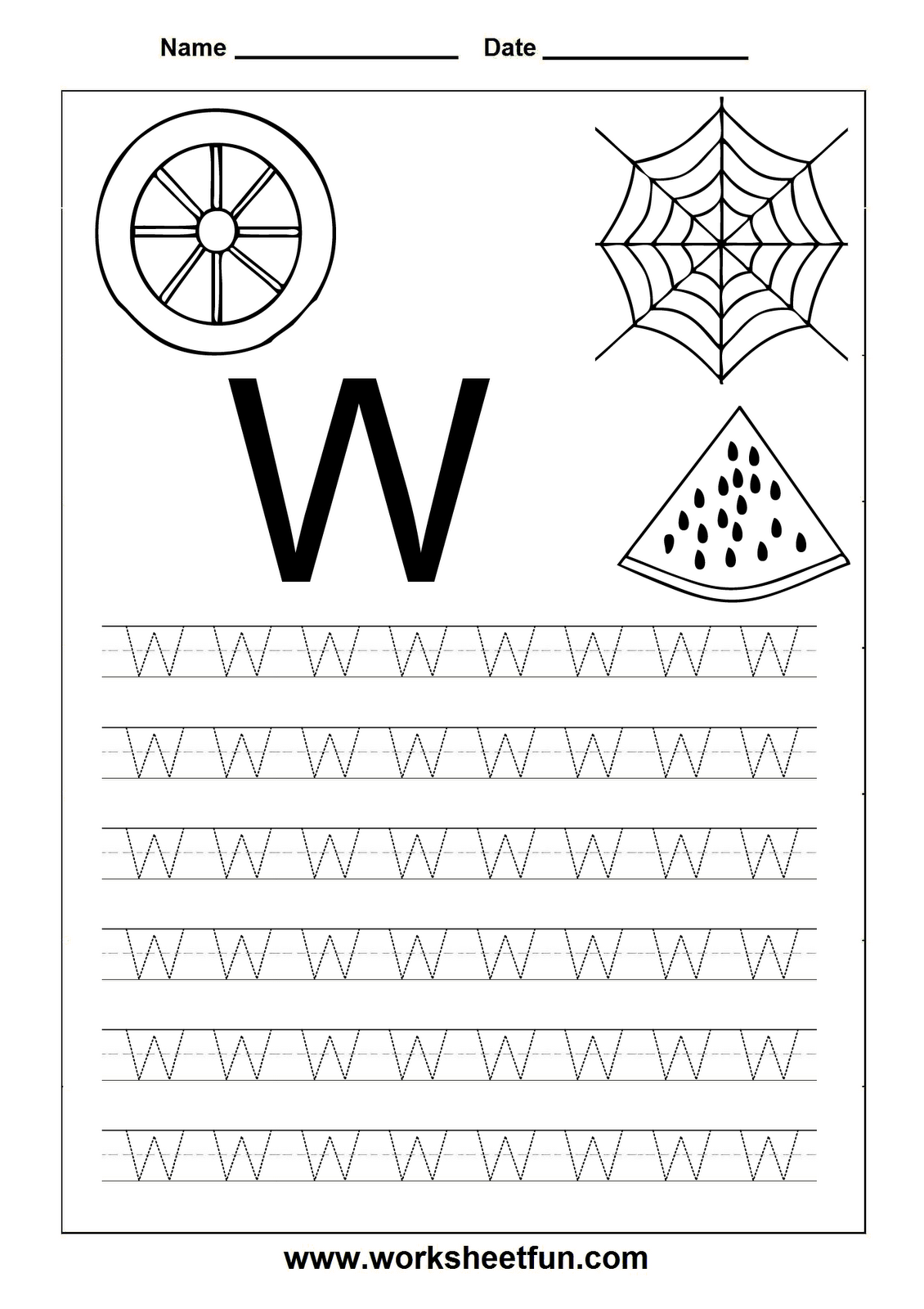 worksheet Letter W Tracing Worksheets free printable worksheets letter tracing for kindergarten capital and small letters alphabet
