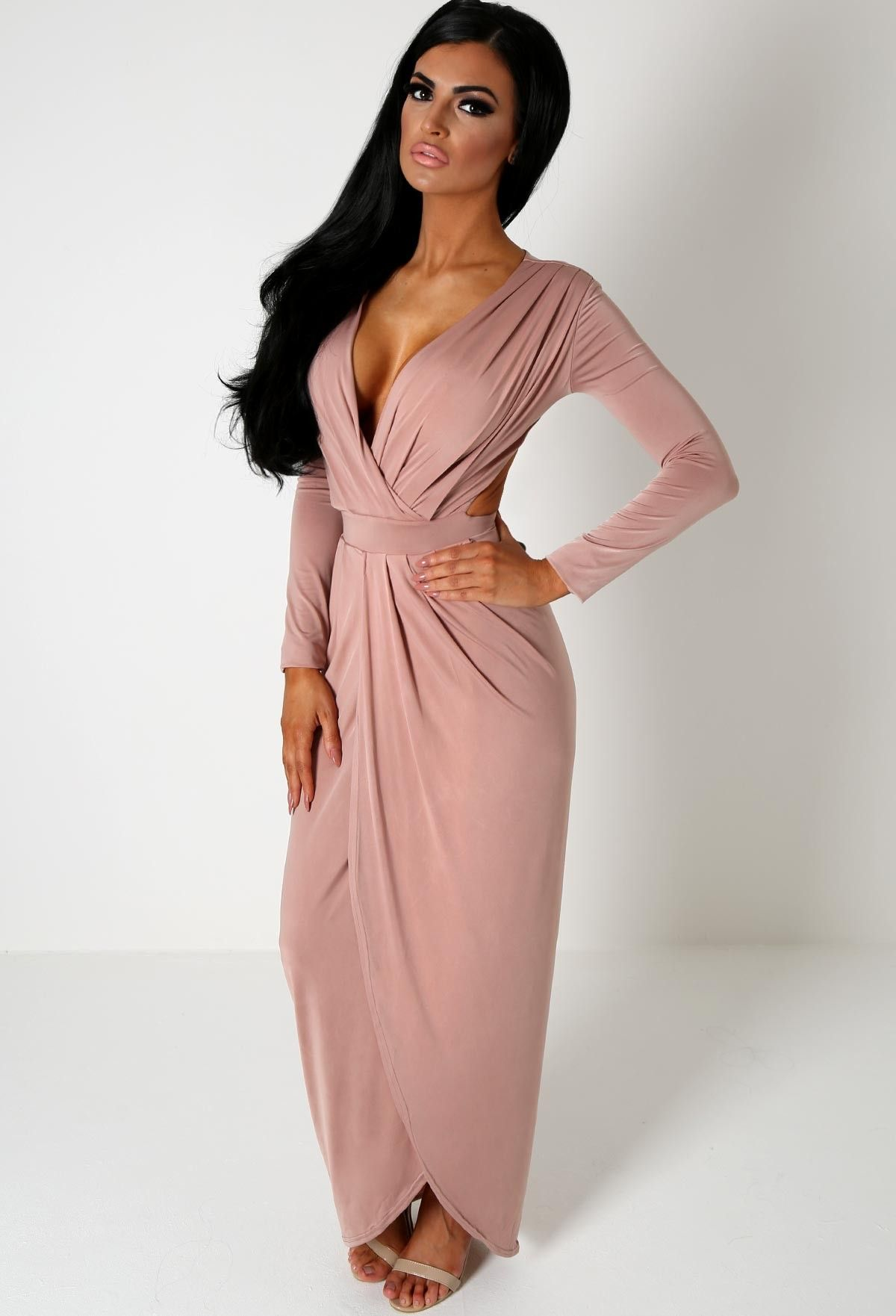 Afrodita Blush Slinky Cut Out Maxi Dress | Best Maxi dresses ideas