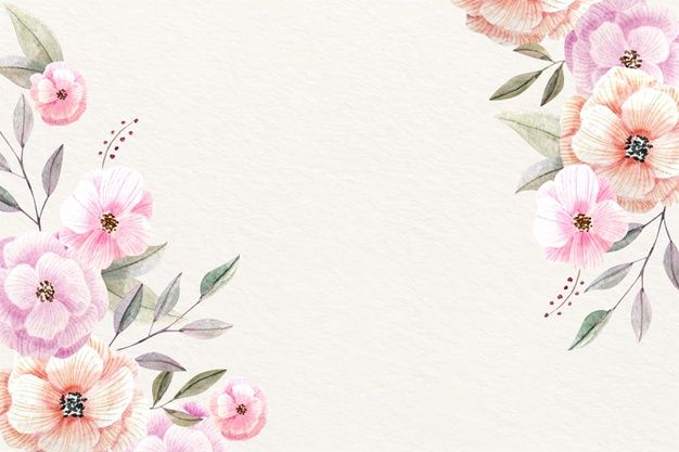 Download Watercolor Floral Background With Soft Colors For Free Floral Background Floral Watercolor Watercolor Flower Background