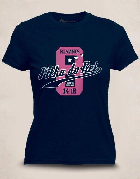 9e607d76bb828 Camiseta Baby Look Filha do Rei