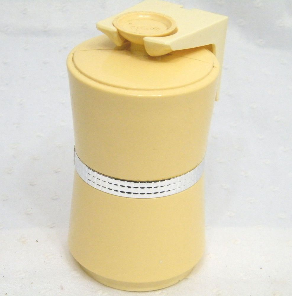 VINTAGE 1960s DIXIE CUP YELLOW BATHROOM CUP DISPENSER MID