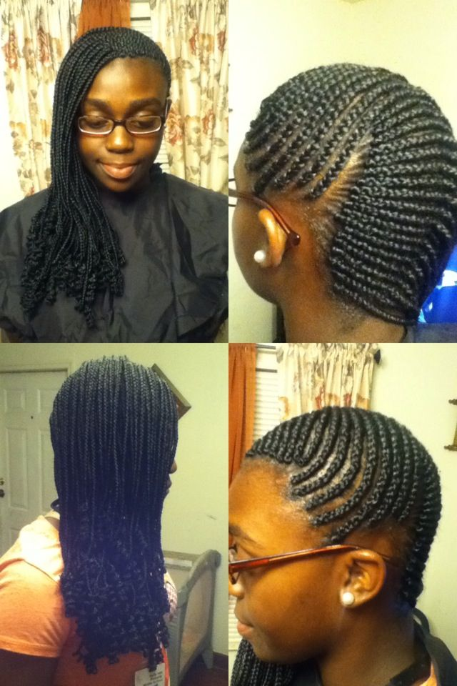ocean wave cornrows to the side braid style creations
