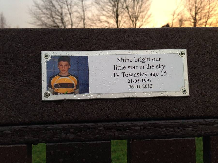 Personalised Photo Memorial Bench Plaque Memorial Benches