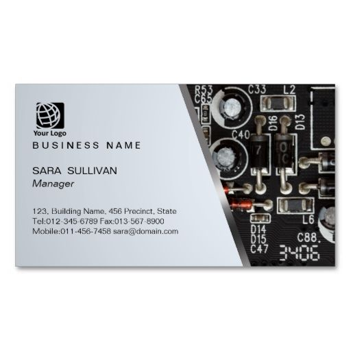 Computer Circuits Computer Service Business Card Zazzle Com Computer Service Services Business Customizable Business Cards