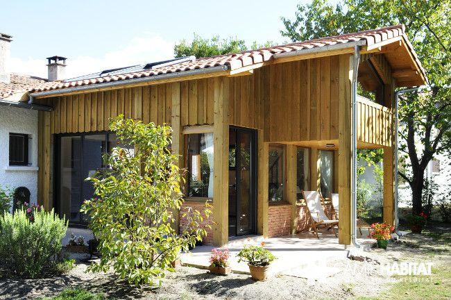 Extension de maison en bois #extension #maison #bois    www