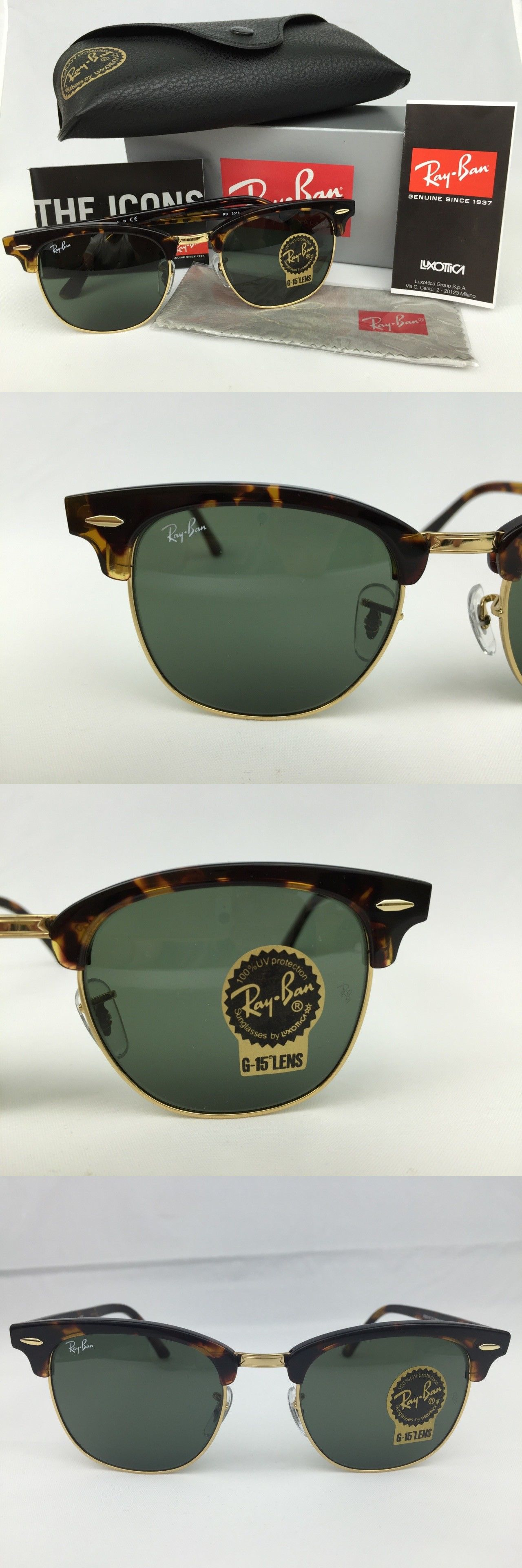 abecfdf970 netherlands sunglasses 79720 new ray ban rb 3016 clubmaster w0366 tortoise  frame g 15 green 86c23