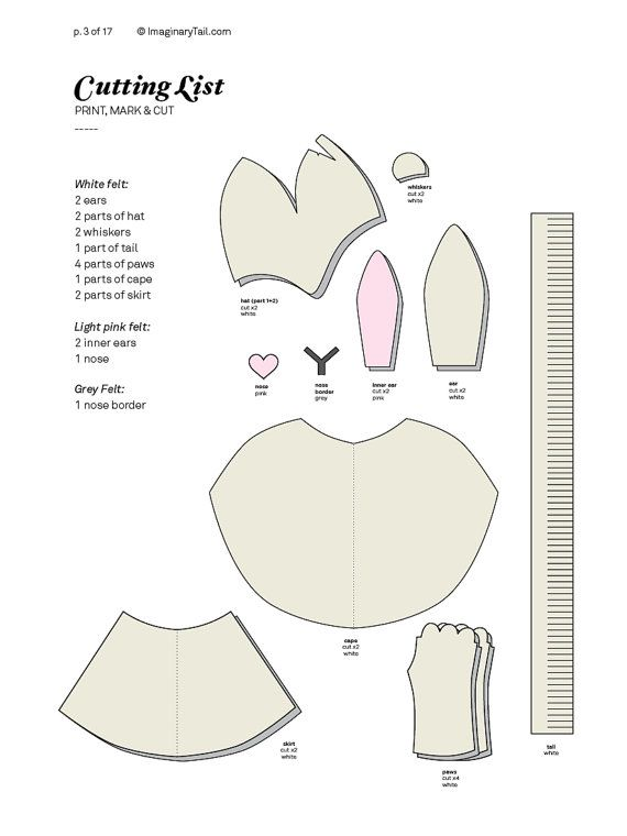 Bunny PATTERN DIY costume mask sewing tutorial creative play ...