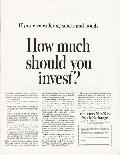 1962 Members New York Stock Exchange Vintage Ad How Much