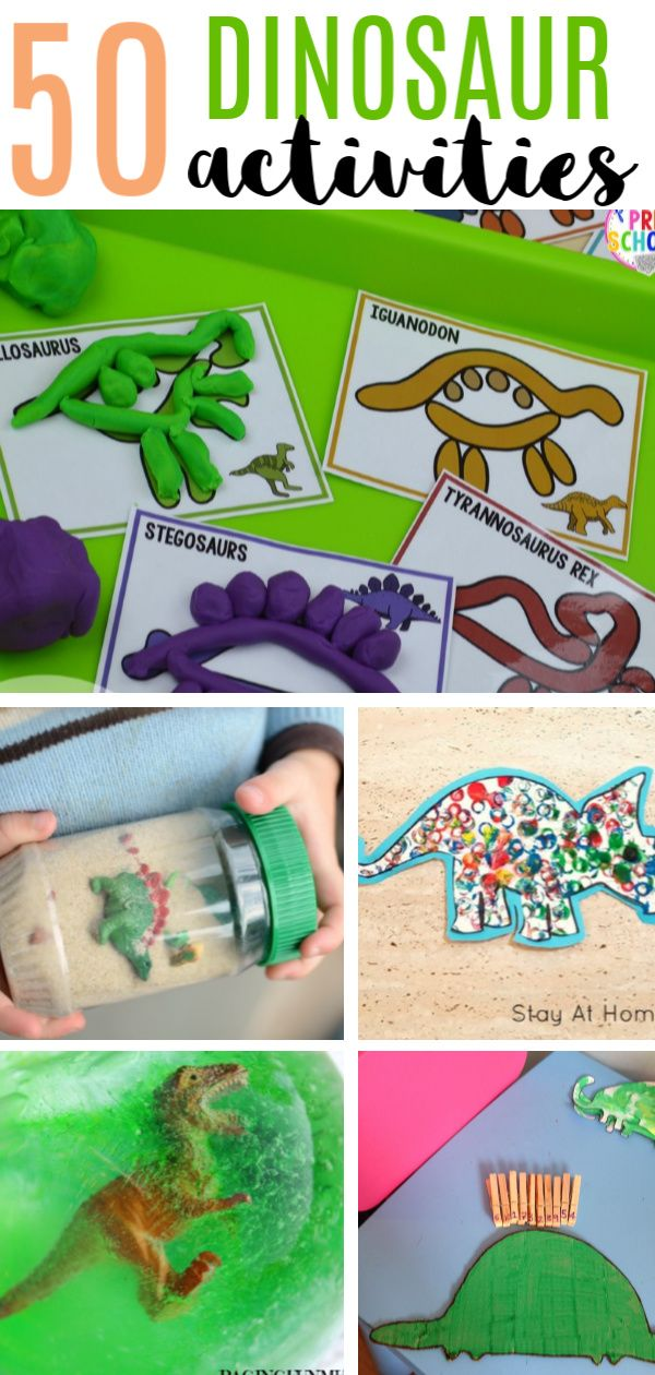 50 Dinosaur Crafts and Activities #dinosaur