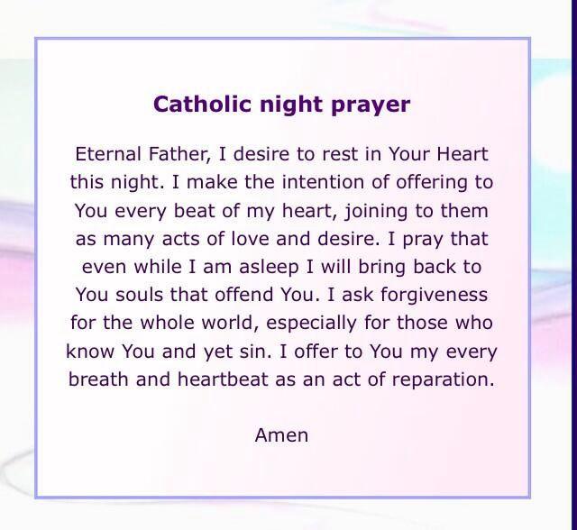 Beautiful little prayer before sleep Prayer before sleep