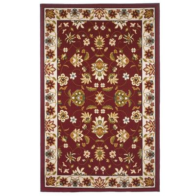 EverythingHome Oriental Floral Red & Beige Area Rug Rug Size: 8' x 10'