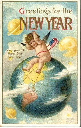 vintage new year cards