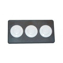 Len Gordon by Allied Innovations - BUTTON DECKPLATE: #15 CLASSIC TOUCH 3 BUTTON PANEL BLACK - 951523-000