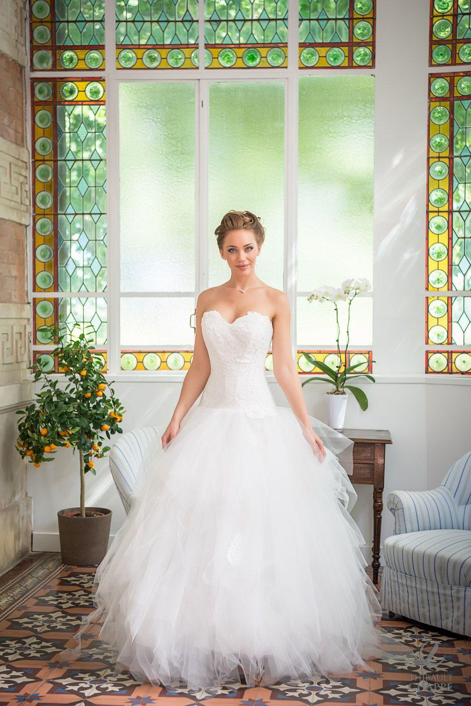 Modèle BISOU Robe de mariée Romantique en mouchoirs de ...